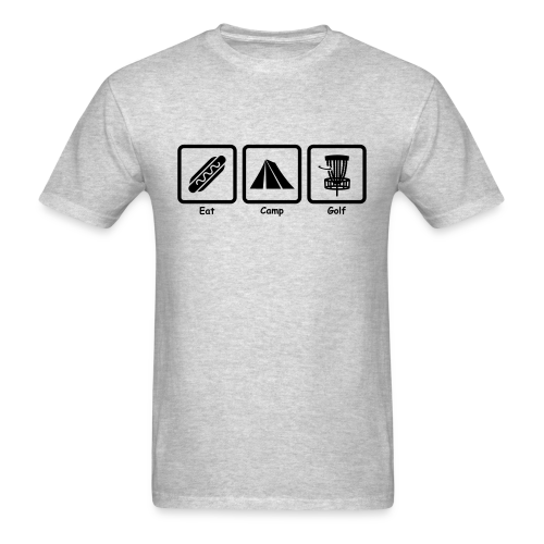 Eat, Camp, Play Disc Golf - Men's Shirt - Black Print - Men's T-Shirt