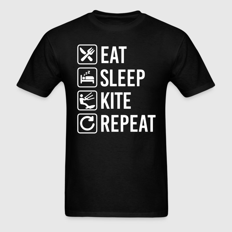 Kite Surfing Eat Sleep Repeat T-Shirt T-Shirts - Men's T-Shirt
