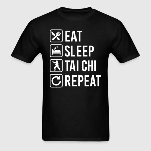 Tai Chi Eat Sleep Repeat T-Shirt T-Shirts - Men's T-Shirt