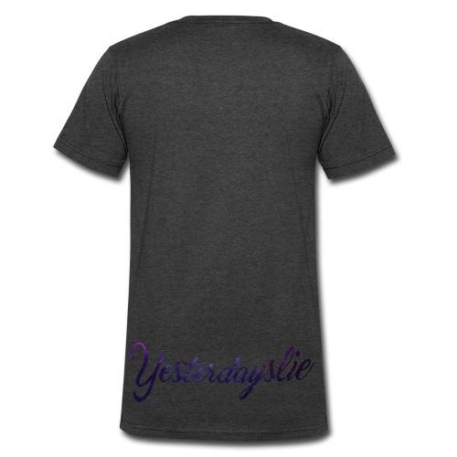 V-Neck T-Shirt (#1) (special) (smal crest) (Back Print) - Men's V-Neck T-Shirt by Canvas