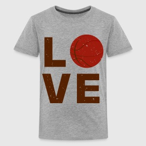 love basket ball typography - Kids' Premium T-Shirt