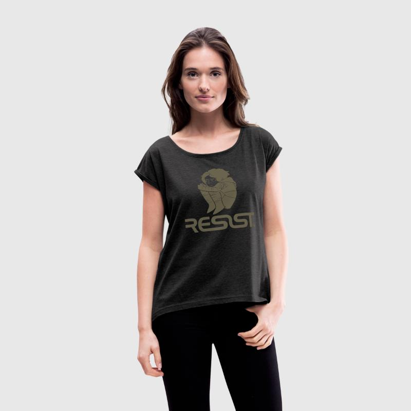 Resist - Women´s Rolled Sleeve Boxy T-Shirt
