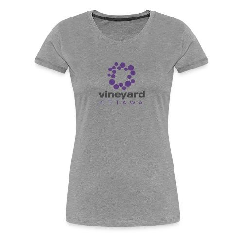 Womens Vineyard Ottawa Tshirt (stacked on grey) - Women's Premium T-Shirt