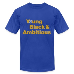 Men's YBA TShirt (Blue and Gold) - Men's T-Shirt by American Apparel
