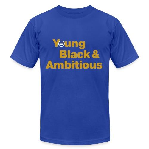 Men's YBA TShirt (Blue and Gold) - Men's Fine Jersey T-Shirt