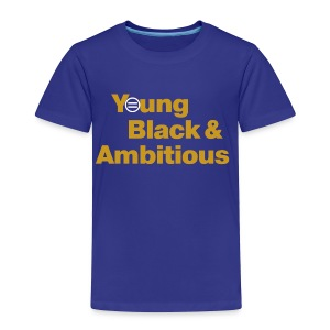 YBA Toddler Tee - Blue and Gold - Toddler Premium T-Shirt