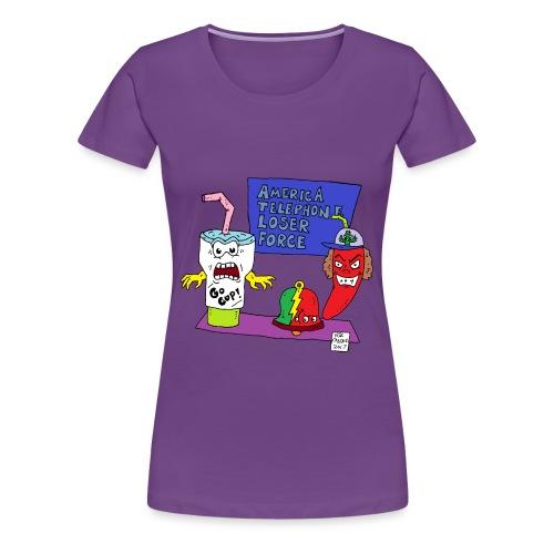AquaTeen Parody - Women's Premium T-Shirt
