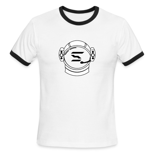 SAMI RINGER T-SHIRT - WHTBLK ON WHTBLK - Men's Ringer T-Shirt
