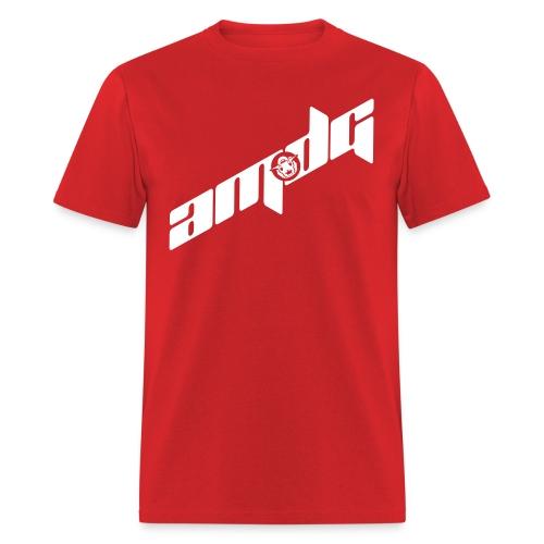 AMDG Logo-Diagonal White - Men's T-Shirt