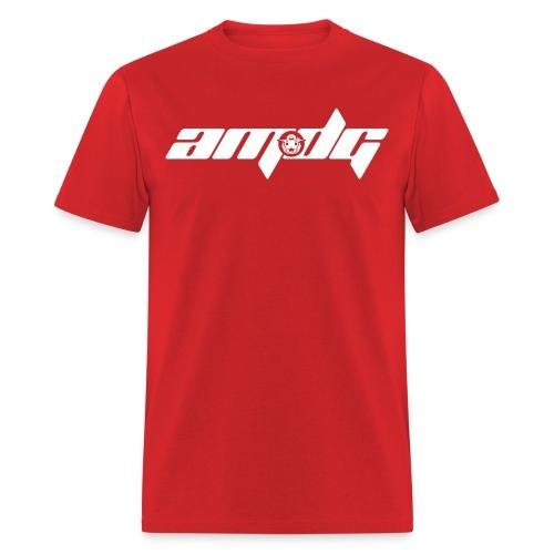 AMDG Logo-Horizontal White - Men's T-Shirt