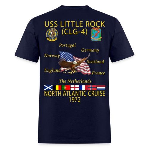 USS LITTLE ROCK (CLG-4) 1972 CRUISE SHIRT - Men's T-Shirt
