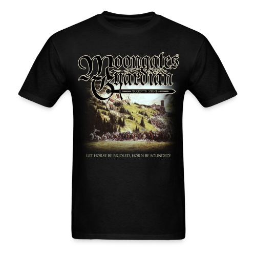 Moongates Guardian - Let Horse Be Bridled, Horn Be Sounded! - Men's T-Shirt
