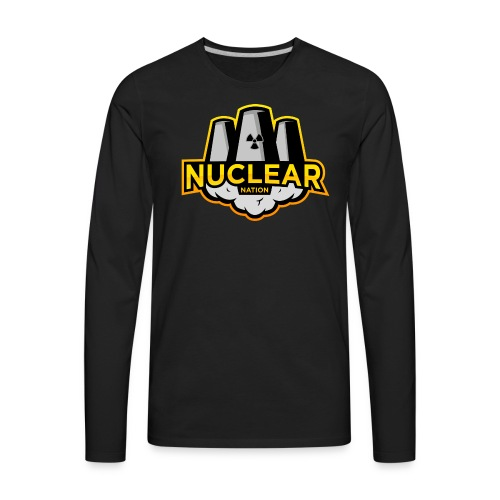 Nuclear Nation Long Sleeve Black - Men's Premium Long Sleeve T-Shirt