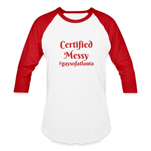 Certified Messy Tee in Red - Baseball T-Shirt