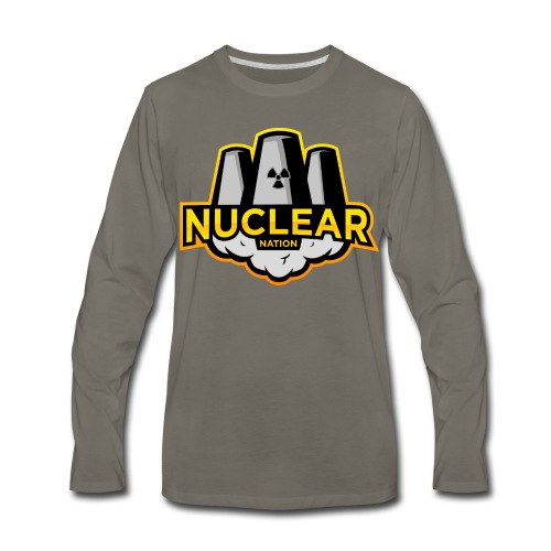 Nuclear Nation Long Sleeve Gray - Men's Premium Long Sleeve T-Shirt