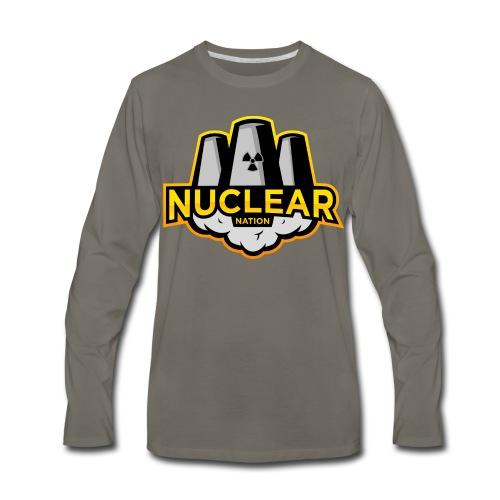 Nuclear Nation Long Sleeve Gray - Men's Premium Long Sleeve T-Shirt