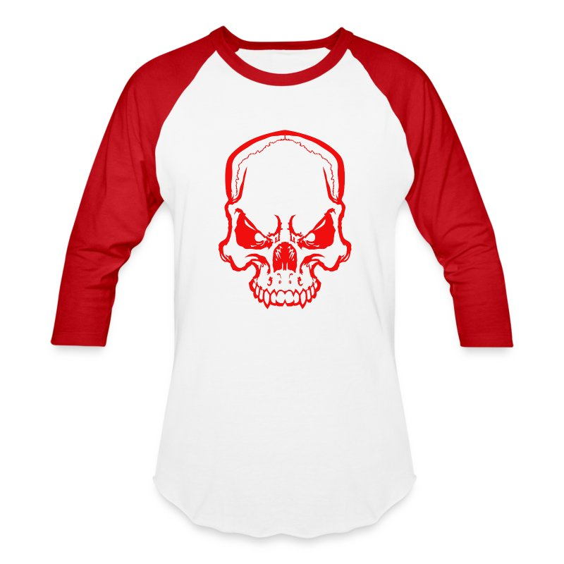 angryskull copy_ss - Baseball T-Shirt