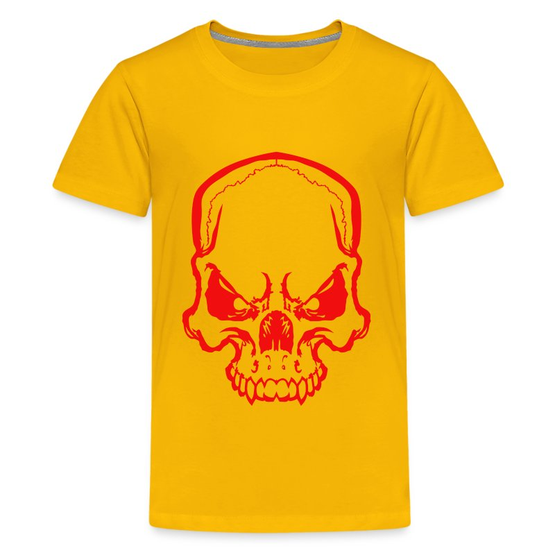 angryskull copy_ss - Kids' Premium T-Shirt