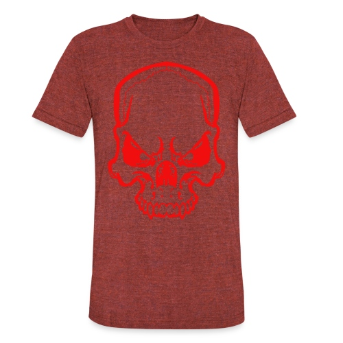 angryskull copy_ss - Unisex Tri-Blend T-Shirt by American Apparel