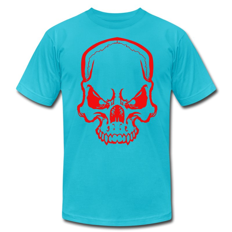 angryskull copy_ss - Men's T-Shirt by American Apparel
