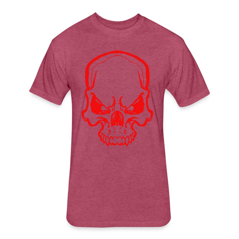 angryskull copy_ss - Fitted Cotton/Poly T-Shirt by Next Level
