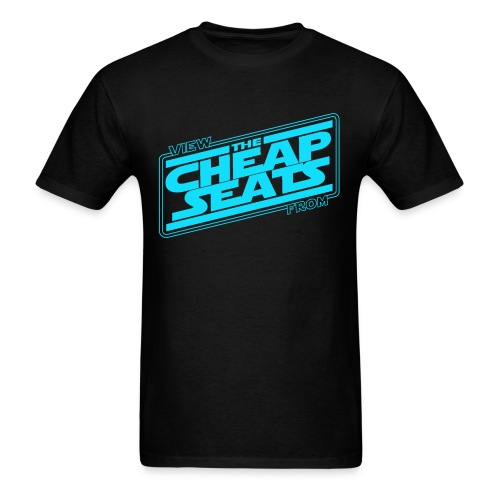 The Cheap Seats ! (Blue) - Men's T-Shirt