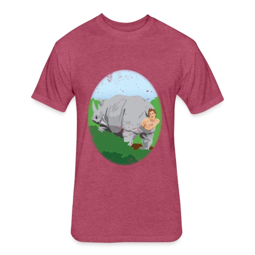 Warm In these Rhinos - Fitted Cotton/Poly T-Shirt by Next Level