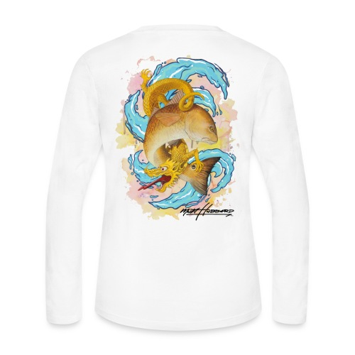 Women's Red Dragon Long Sleeve Jersey Shirt - Women's Long Sleeve Jersey T-Shirt