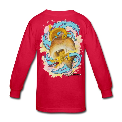 Kid's Standard Red Dragon Long Sleeve Shirt - Kids' Long Sleeve T-Shirt