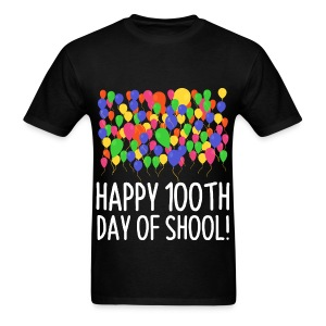 Count them 100 Balloons 100th Day of School Teacher - Men's T-Shirt