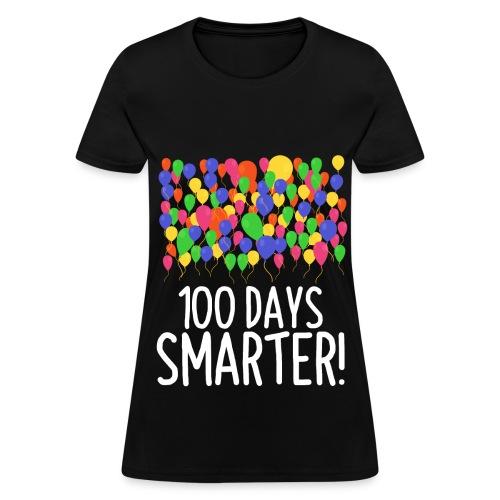 100 Balloons 100th Day of School Teacher/Student - Women's T-Shirt