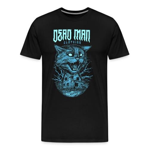 Mad cat Blue Design by DeadManClothing! Men's Shirt! - Men's Premium T-Shirt