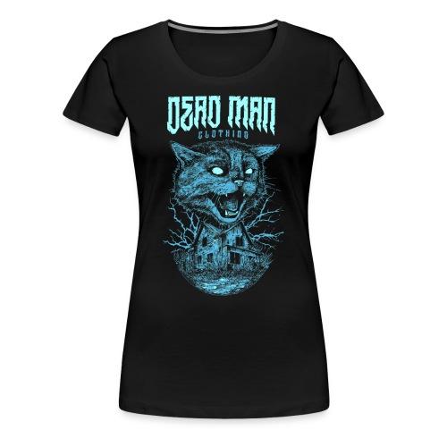 Mad cat Blue Design by DeadManClothing! Women's Shirt! - Women's Premium T-Shirt