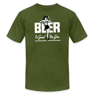 Beer is Good for You Retro Tee - Men's Fine Jersey T-Shirt
