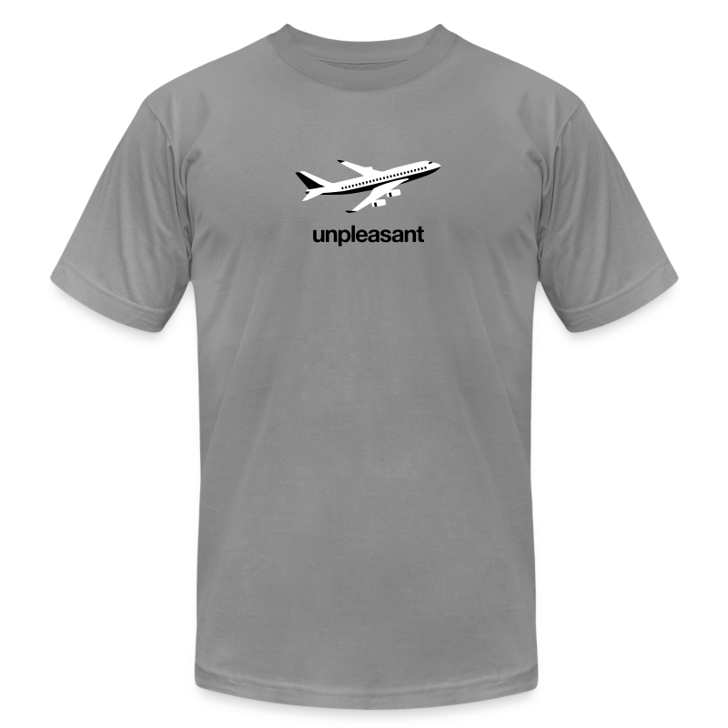 Flying is Unpleasant - Men's T-Shirt by American Apparel
