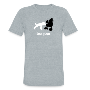 Bonjour Poodles Triblend Tee - Unisex Tri-Blend T-Shirt by American Apparel