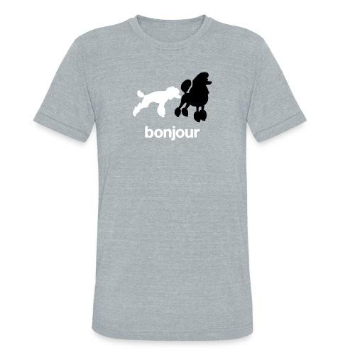 Bonjour Poodles Triblend Tee - Unisex Tri-Blend T-Shirt