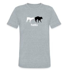 Hello Triblend Tee - Unisex Tri-Blend T-Shirt by American Apparel
