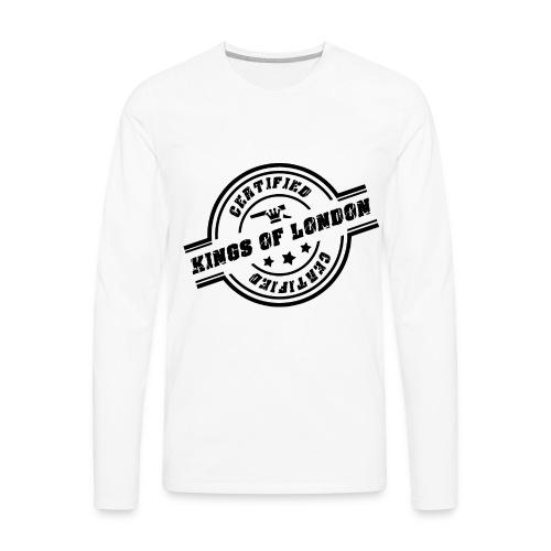 Long Sleeve Kings of London Tee - Men's Premium Long Sleeve T-Shirt