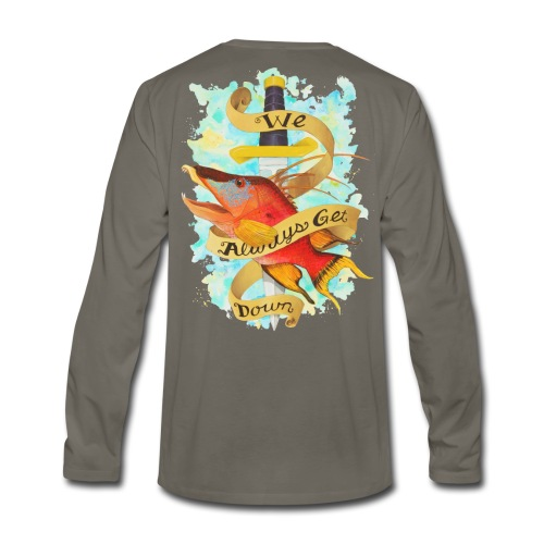 Men's Premium Get Down Hog Long Sleeve Shirt - Men's Premium Long Sleeve T-Shirt