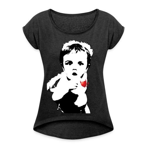 Bad Cupid - Women's Roll Cuff T-Shirt