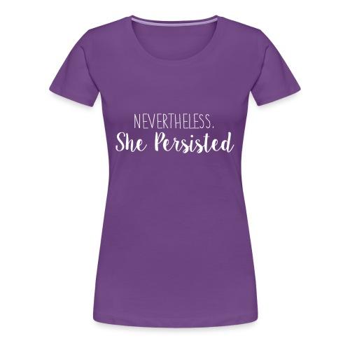 She Persisted - Women's Classic Premium Tee - Dark - Women's Premium T-Shirt