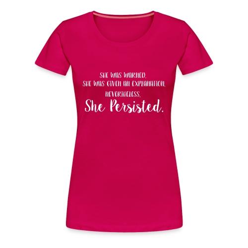 She Was Warned - Women's Classic Premium Tee - Dark - Women's Premium T-Shirt