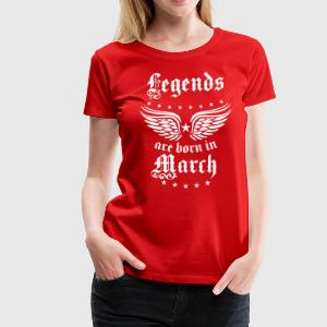 Legends are born in March birthday Vintage Stars s - Women's Premium T-Shirt