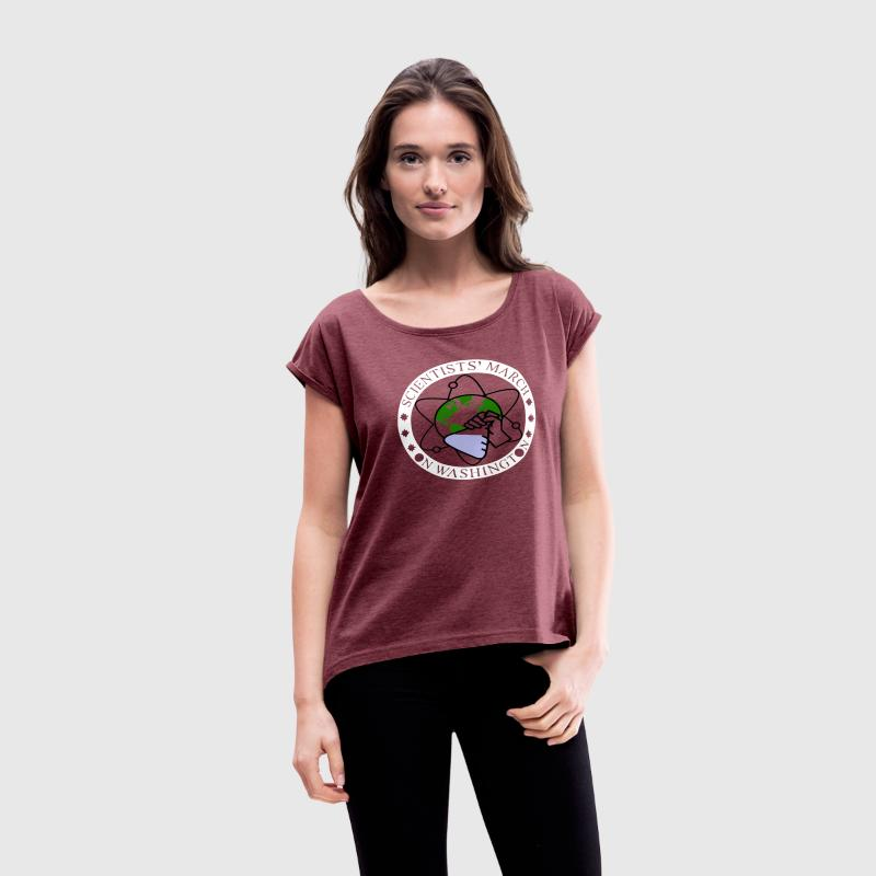 March for Science - Women´s Rolled Sleeve Boxy T-Shirt
