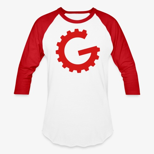 GulchCast G • Unisex Baseball Jersey - Red/Black - Baseball T-Shirt