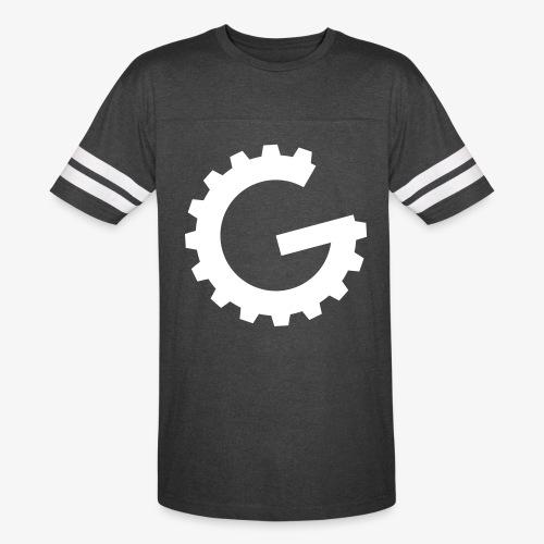 GulchCast G • Men's Ringer Tee - Vintage Smoke/White - Vintage Sport T-Shirt