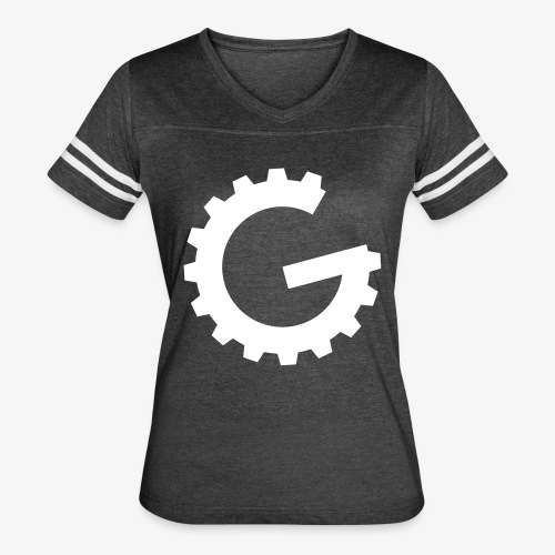 GulchCast G • Women's Ringer Tee - Vintage Smoke/White - Women's Vintage Sport T-Shirt