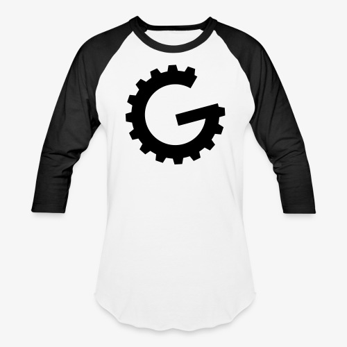 GulchCast G • Unisex Baseball Jersey - White/Black - Baseball T-Shirt