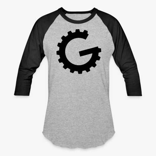 GulchCast G • Unisex Baseball Jersey - Grey Heather/Black - Baseball T-Shirt